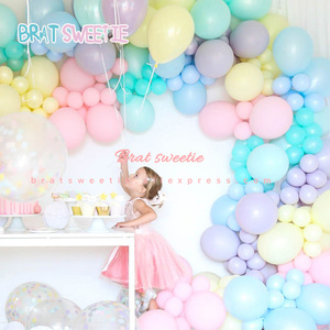 Unicorn Party Balloon Garland Arch Kit Rainbow Macaron Pastel Balloons Baby Girls Birthday Party Backdrop Easter Decorations(China)