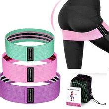Unisex Resistance Bands Elastic Fabric Rubber Booty Bands Set Non-slip Circle Loop Workout Bands for Butt Legs Thigh Hip Trainer