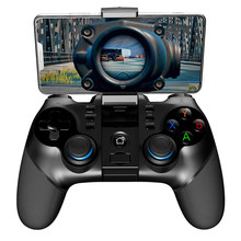 PG-9156 Wireless Gamepad Bluetooth 4.0 Controller Flexible Joystick 2.4GReceiver Telescopic Holder Smart Console for Android iOS(China)