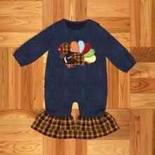 Ubrania dla maluchów ubrania dla niemowląt ubrania dla dzieci muzułmańskie wzory z indyka Romper dla dzieci bielizna nocna i szata odzież wierzchnia i płaszcze rodzina