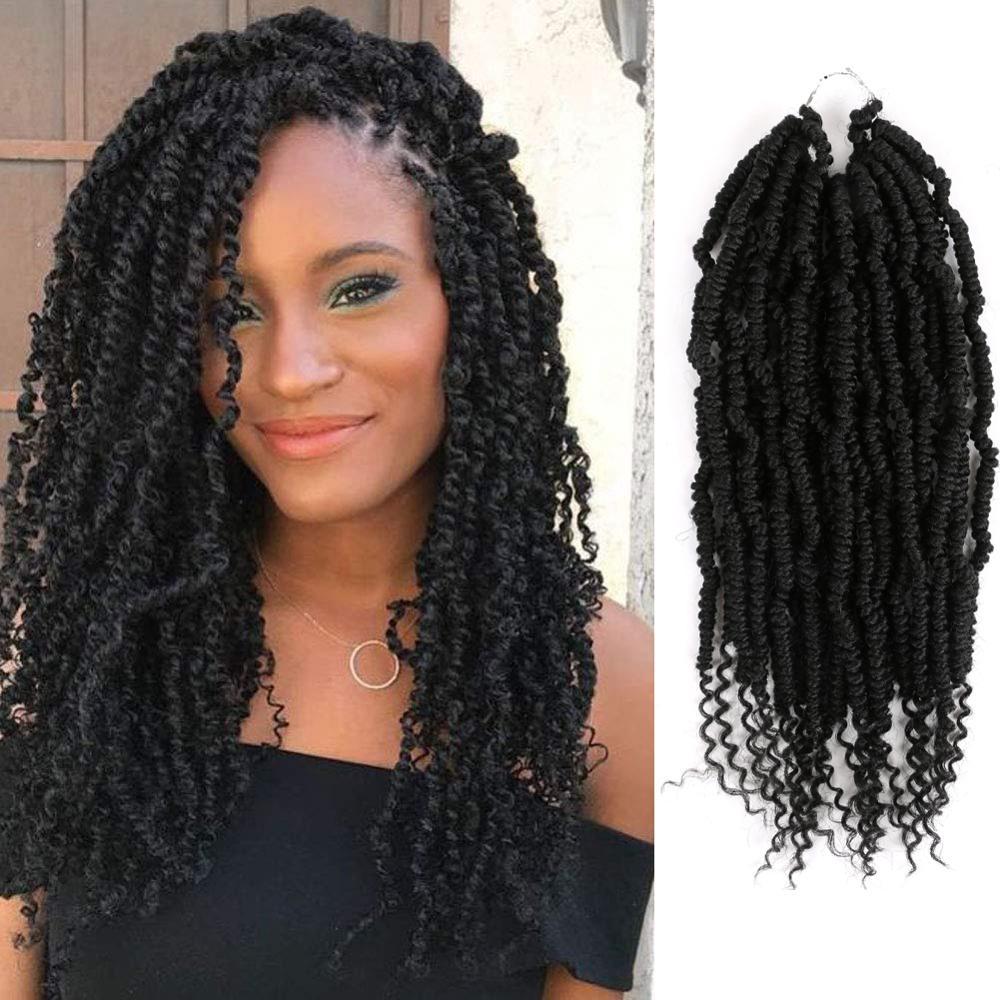 MTMEI волосы бомба твист накладные волосы на крючке, 12 дюймов 24 пряди Весна Твист волос чёрный; коричневый ошибка 60 г/упак. эффектом деграде (пе...