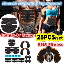 25PCS/set Professional Fitness Equipment Accessories Abdominal Muscle Massage Trainer Slimming Training Fat Burning Sticker EMS