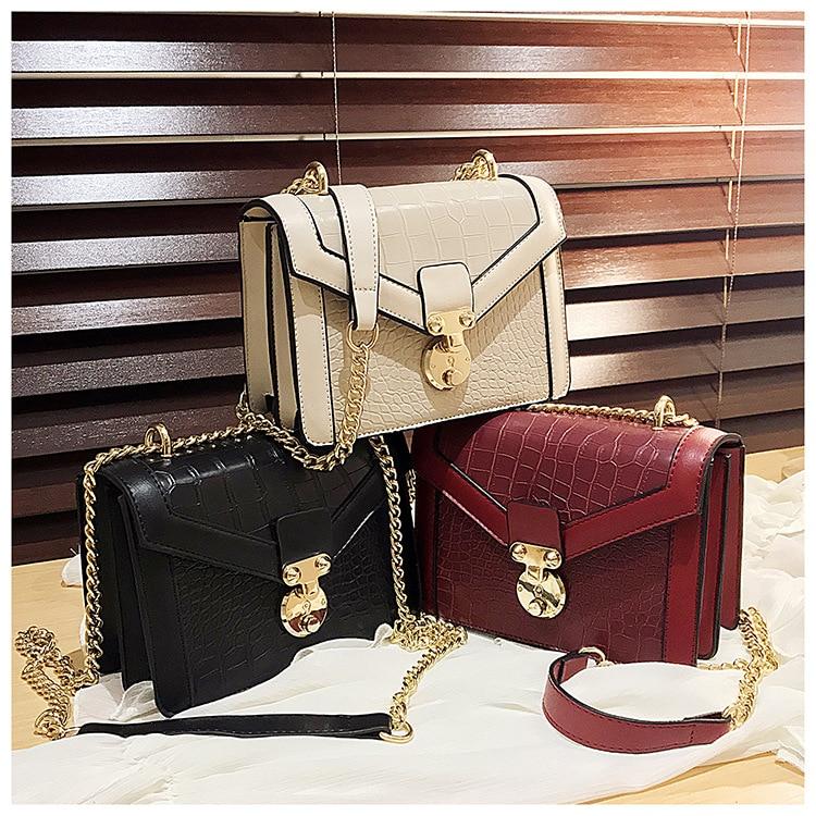 Fashion Ladies Crocodile Flap Bag Designer Handbags Women Bags 2020 Day Clutch Gold Chain Girls Crossbody Shoulder Messenger Bag