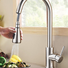 Kitchen Faucet Mixer Tap Sprayer-Head Tap-Stream Brushed Nickel Rozin Single-Hole-Pull-Out