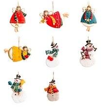 Christmas Gift Cartoon Shape Decoration Tree Pendant New Year Cute Ornaments