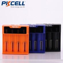 1PCS PKCELL Smart battery charger for 1.2V 3.7V 3.2V AA/AAA 26650 NiMH li ion battery18650 battery charger 5V 2A