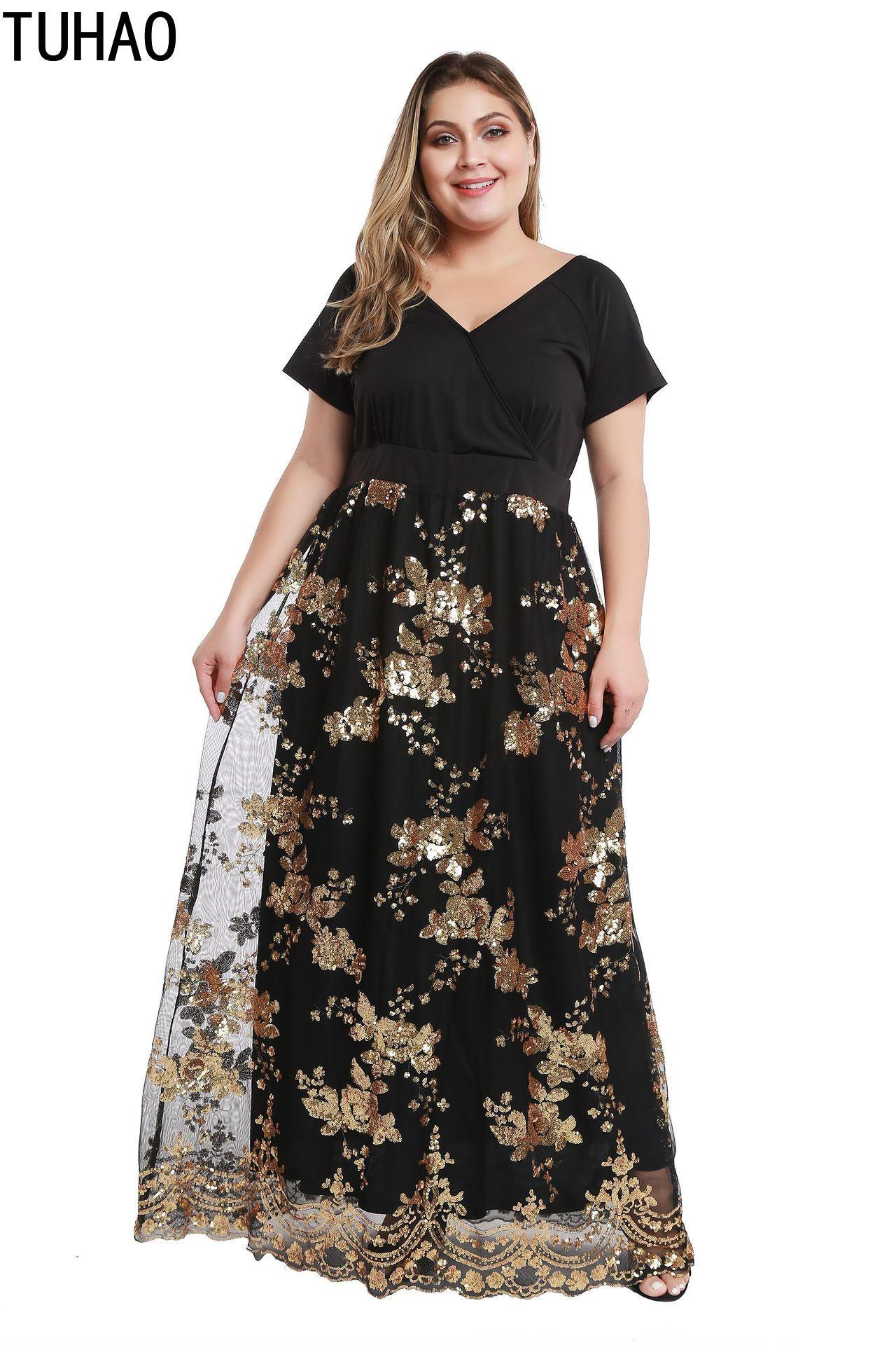 Женское длинное платье макси TUHAO, длинное вечернее платье большого размера 5xl 4xl 3xl, свободное элегантное платье большого размера для ночного клуба|Платья|   | АлиЭкспресс