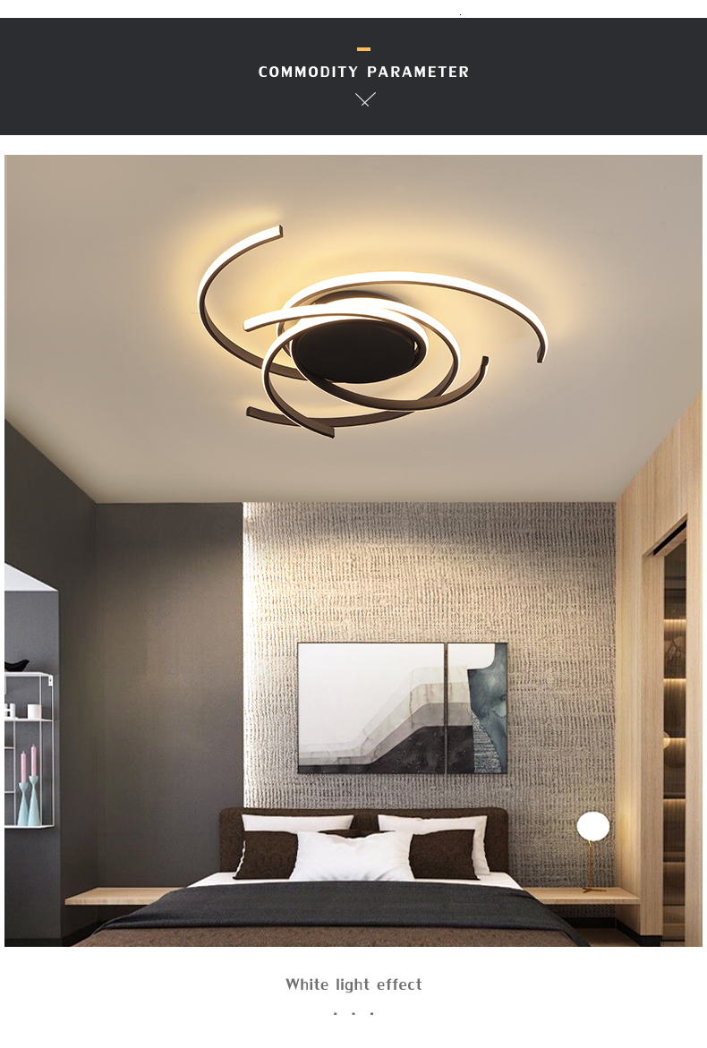 Hab1452f4b2624efcb86c07d7a140a8210 Creative modern led ceiling lights living room bedroom study balcony indoor lighting black white aluminum ceiling lamp fixture