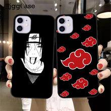 Naruto Silikon Phoen Fall Für iPhones 11 12 Pro Max XR X 7 8 6 6s Plus SE 2020 cartoon Anime akatsuki Weichen Telefon Abdeckung Coque