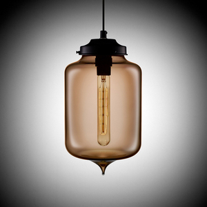 Image 2 - Loft Vintage Antique Industrial Colorful Glass Pendant Lights Fixtures with 6 Color Lampshade E27/E26 for Restaurant Cafe Bar