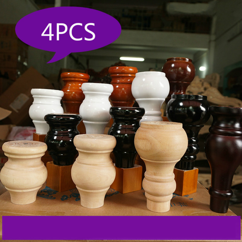 Furniture Legs Cabinet Table Legs 4pcs/lot Wooden Sofa Feet Coffee Table Feet Footpost End Table Solid Wood Patas Para Mueble