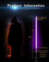 Haocaitoy Lightsaber RGB Jedi Sith Light Saber Force FX Lighting Heavy Dueling Color Changing Sound FOC Lock up Metal Handle