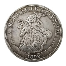 eagle wolf US Hobo 1899 Morgan Dollar skull Silver Plated Copy Coins old Gift for collection drop shipping