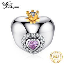 JewelryPalace Crown Heart 925 Sterling Silver Beads Charms Original For Bracelet original Jewelry Making