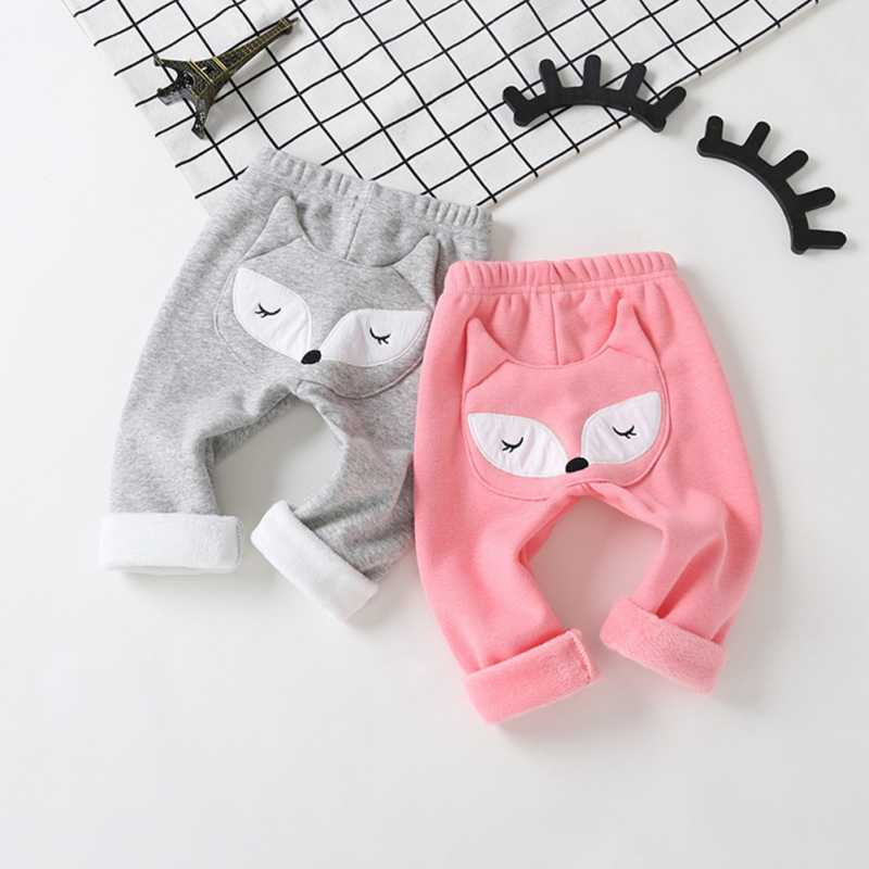 Baby Leggings Autumn Warm Boys Girls Animal Print Loose Leggings Casual Trousers Toddler Sports Bottoms Leggings For Baby Kids