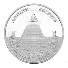 Глаз масонской Памятная коллекция монет подарок сувенир художественный металлический e