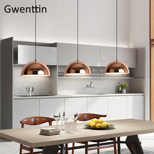 Modern Copper Iron Pendant Lights Led Mirror Hanging Lamp For Dining Room Kitchen Light Fixtures Loft Decor Suspension Luminaire Buy Inexpensively In The Online Store With Delivery Price Comparison Specifications Photos