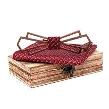 JAYCOSIN bow tie Wooden Manual Wooden Bow Tie Handkerchief S