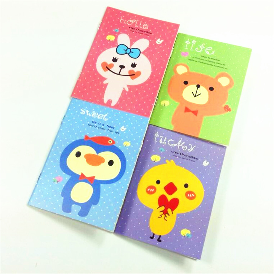 1pcs/lot New Small Animal Series Mini Notebook Diary Planner Notebook School Office Supplies Kawaii Sketchbook Stationery