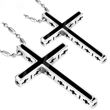Stainless Steel Pendant Necklace for Men Christian Jewelry Stainless Crucifix Cross Pendant Chain Necklace stainless steel barbell pendant necklace for men