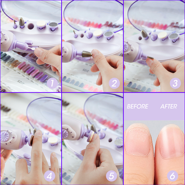 Electric Manicure Machine Portable Battery Nail Drill