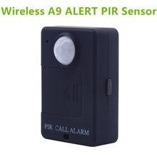 Leshp a9 mini sensor de alarme pir infravermelho gsm alarme sem fio alta sensibilidade monitor de detecção de movimento anti-roubo plugue da ue