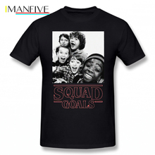 Stranger Things T Shirt Squad Goals T-Shirt Plus size Summer Tee Printed 100 Cotton Short Sleeve Tshirt