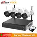 Dahua IMOU Bullet Lite Wifi беспроводные комплекты 4 камеры NVR NVR2104HS-W-4KS2 Встроенный 1 ТБ HDD комплект/NVR2104HS-W-4KS2-1T/4-G22-0360B
