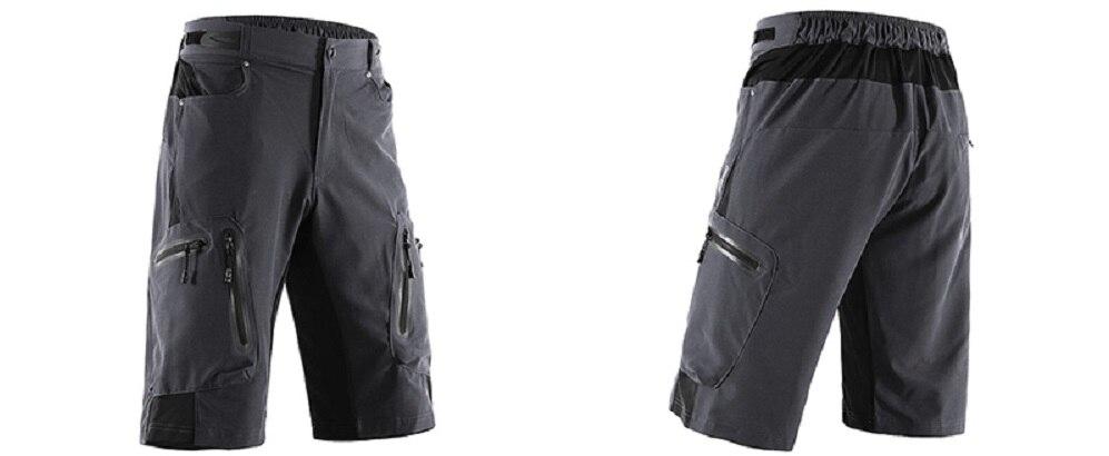calças curtas mtb mountain shorts resistente à água 1202