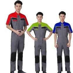 Fabriek Werk Kleding Voor Mannen Zomer Werken Overalls Werkkleding Uniformen Mode Tooling Overall Werknemer Reparateur Jumpsuits