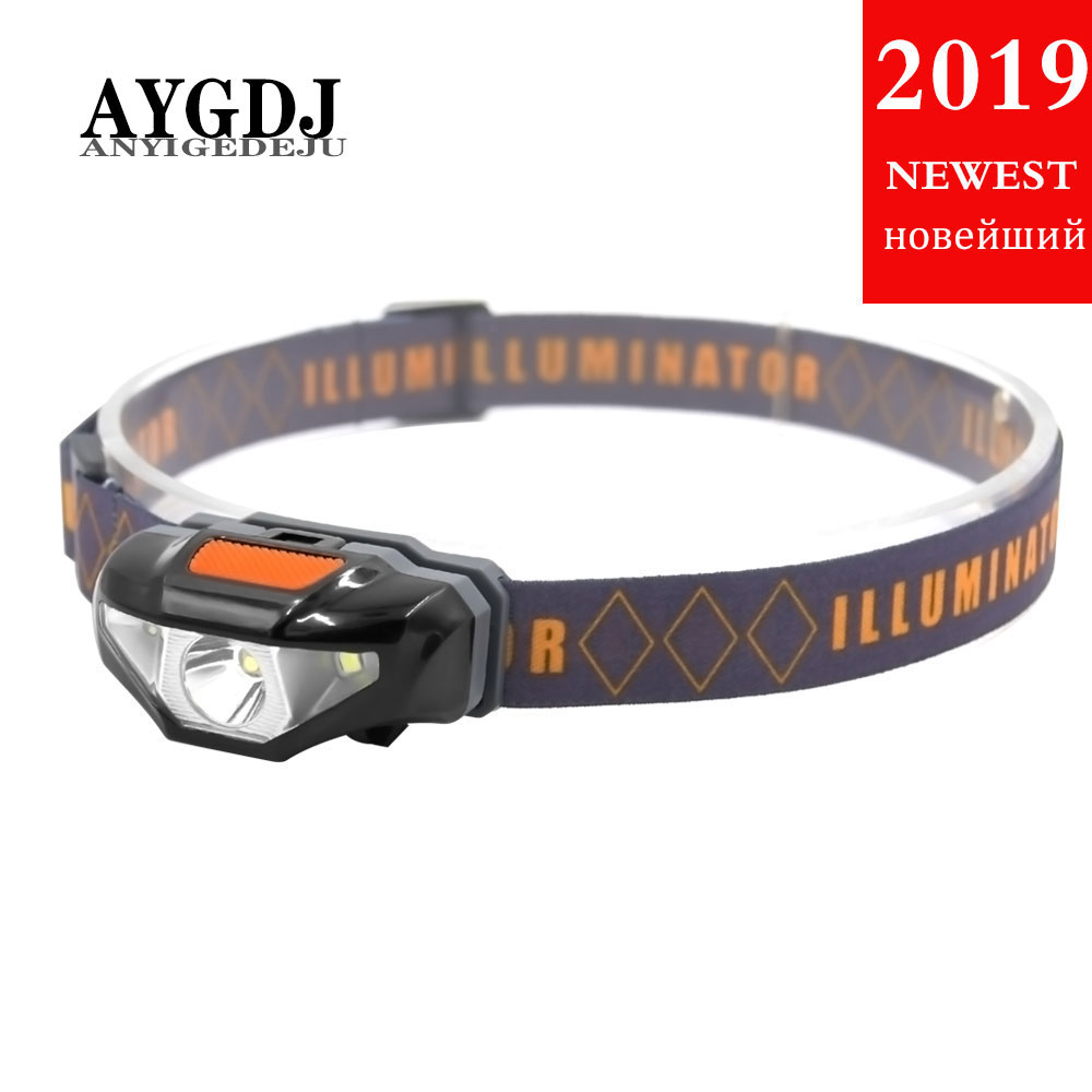 ANYIGEDEJU Mini Head Lamp 3 Modes Waterproof COB LED Flashlight Headlight Headlamp Torch Lanterna With Headband Use AA Battery