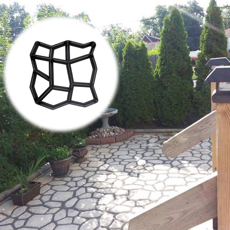 Garden Pavement Mold Walk Pavement Concrete Mould DIY Paving Cement Brick Stone Road Floor Path Maker Mould