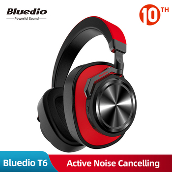 Original Bluedio T6 Wireless Bluetooth Headphone Active Noise Cancelling Portable Bass HiFi Stereo Sport Music Headset With Mic