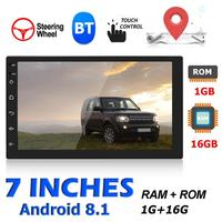 7168 2 DIN 7 inch Touch Screen Android 8.1 Car Stereo BT 4.0 GPS FM MP5 Player WIFI Internet Access and GPS Navigation