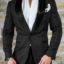 Смокинги друзей жениха Черная шаль отворотом Лучший мужской костюм свадебный мужской блейзер костюмы на заказ(куртка+ брюки