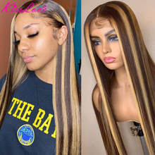 KissLove 4/27 Highlight Wig 13X6 13x4 Straight Lace Front Hu