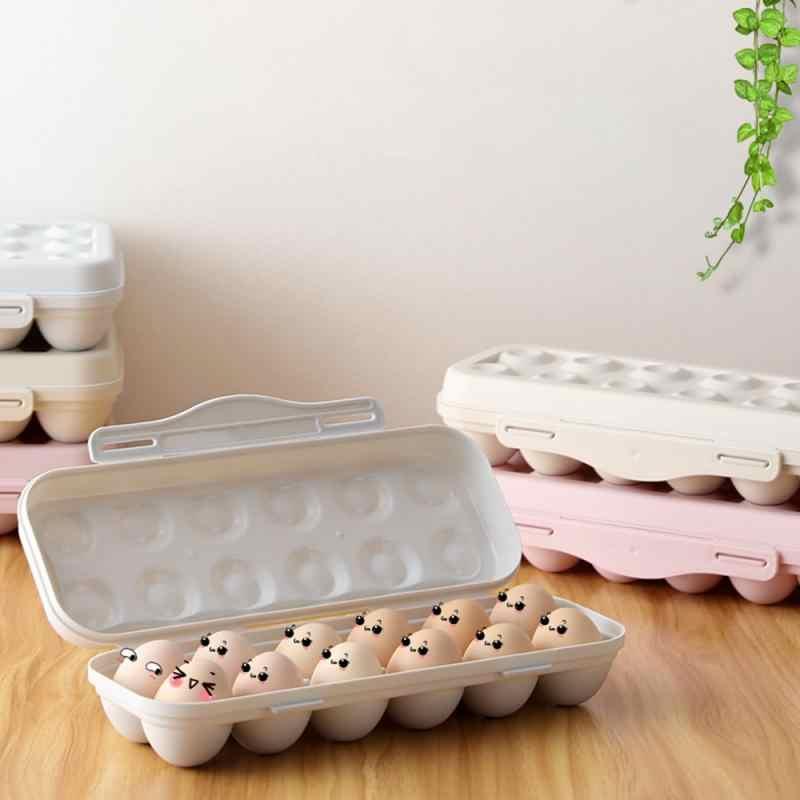 12 Grid ไข่กล่องถาดไข่ผู้ถือไข่ตู้เย็น Crisper กล่องเก็บ Home KITCHEN Storage Organizer