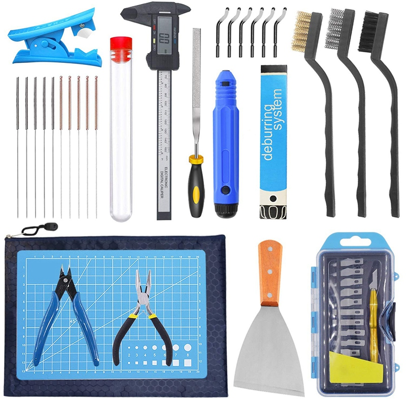 3D Printer Tool Kit,Cleaning and Removal Tool with Storage Bag, 3D Printer Tool Set for Cleaning, for Cleaning Calipers