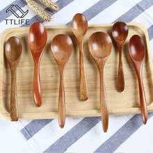 Utensil-Tool Teaspoon Cooking Korean Soup Coffee Wooden Bamboo Kitchen Catering for Kicthen
