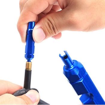 DSPIAE dwugłowicowy klucz wielofunkcyjny części rower MTB rower klucz rdzeń zaworu narzędzie do demontażu dla zaworu Resta zakończone z dwóch stron tanie i dobre opinie Other Pokój Koniec Demontowalne J9102316 Klucz otwarty koniec Blue Approx 22g Approx 5 5cm 2 1inch Approx 9 7mm 0 4inch