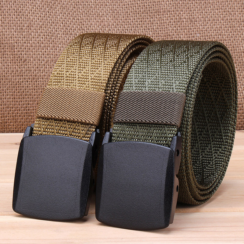 New Men And Women Canvas Nylon Belt Fashion Automatic Buckle Belts Women Outdoor Tactical Belt Military Male Strap Waist Belts