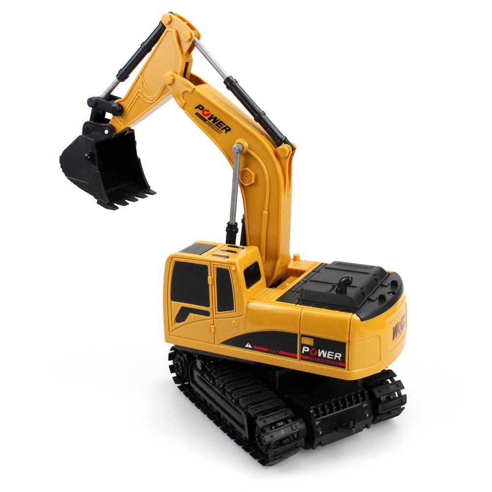1:24 Mini RC ekskavatör Caterpillar tekerlek 2.4Ghz 6 kanal şarj edilebilir simüle ekskavatör uzaktan kumanda oyuncaklar RC kamyon çocuklar için