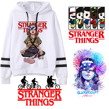 Stranger Things Season 3 Hoodie Women funny eleven Sweatshirts Kawaii Korean Oversized Harajuku Hip Hop Hooded female hoodies