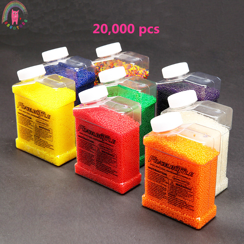 20000pcs Water Gun Bullet Seven Colors Soft Crystal Water Paintball Gun Bullet Grow Water Beads Balls Water Gun Toy