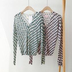 Frauen Pullover Stern druck lose und weiche leinen strick strickjacke