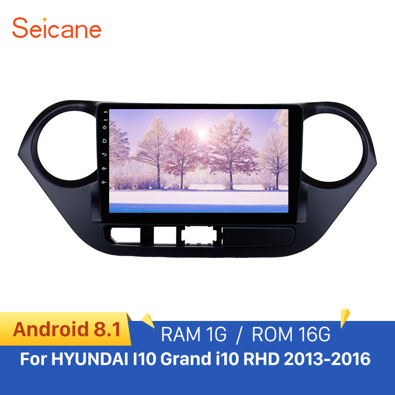 Seicane 2Din Android 8.1 1080P <font><b>GPS</b></font> Head Unit For <font><b>HYUNDAI</b></font> <font><b>I10</b></font> <font><b>Grand</b></font> <font><b>i10</b></font> RHD 2013-2016 9 inch Car Stereo DVD Player Rear camera image