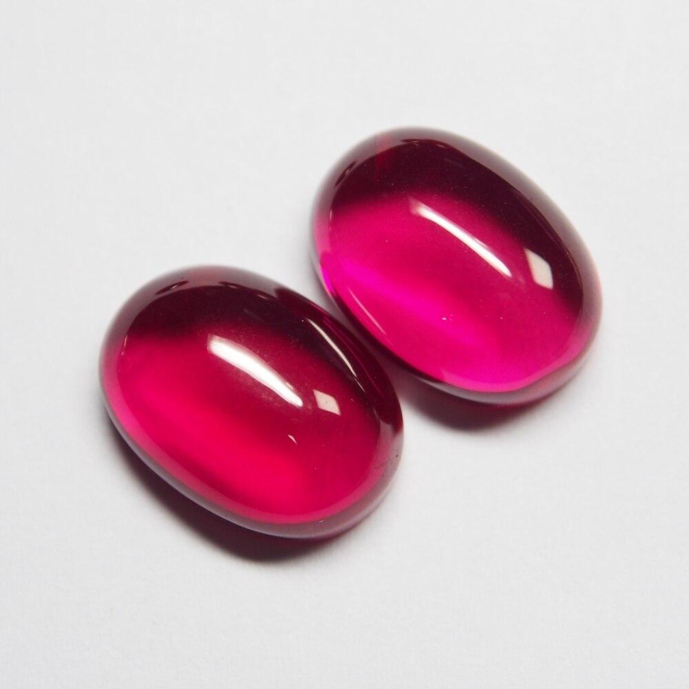 6*8mm 20 Piece/a lot Oval Flatback Cabochon Gemstone Ruby Corundum Ruby for ring