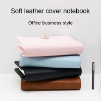 Lovedoki Soft Leather Business Notebooks and Journals A6 Spiral Planner Gird Dotted Line Paper Personal Diary Office Stationery