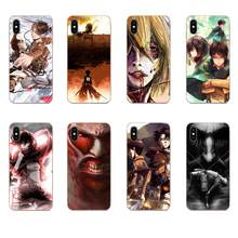 For Galaxy Grand A3 A5 A7 A8 A9 A9S On5 On7 Plus Pro Star 2015 2016 2017 2018 Soft TPU 2017 New Arrival Attack On Titan Design(China)
