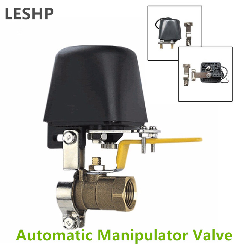 Automatic Manipulator Shut Off Valve For Alarm Shutoff Gas Water Pipeline Security Device For Kitchen & Bathroom DC8V-DC16V